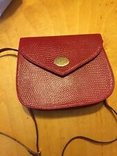 Red Leather Vintage Purse le monde du bagage