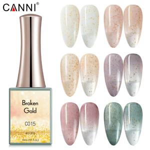 CANNI UV Nail Gel Polish BROKEN GOLD SERIES Shimmer Varnish Soak Off LED 16ML
