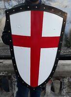 16 Gauge Crusader Red Cross Battle Shield Re-enactment Stage or Decoration