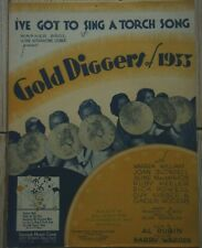 GOLDIGGERS OF 1933/ PARTITION ORIGINALE AMERICAINE/ COMEDIE MUSICALE