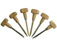 Watchmakers/Jewellers Graver 6 Piece Set with Wooden Handles. M0095