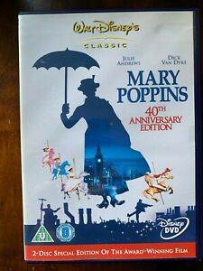 Mary Poppins DVD 1964 Walt Disney Musical Film Classic 2 Disco Edizione Speciale