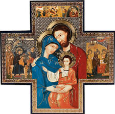 THE HOLY FAMILY MARY JOSEPH JESUS WOODEN PLAQUE / PICTURE CHRISTIAN RELIGIOUS