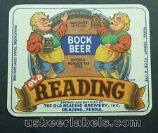 1940's Irtp beer label - Reading Bock Beer - Reading, Pa