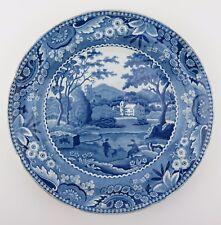 Georgian blue and white transfer print pearlware dinner plate c1820