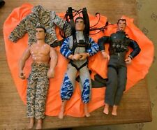 3 Action MAN  job lot. Includes parachute .