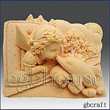 2D Silicone Soap/Plaster/Polymer Clay Mold – – D is for Dolphin