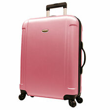 "Traveler's Choice Pink Freedom 29"" Lightweight Spinner Travel Luggage w/TSA Lock"