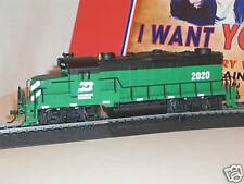 "HO MANTUA TRAIN ""B&N or BN"" GP- 20 LOCO  BURLINGTION NORTHERN  METAL CHASSIS"