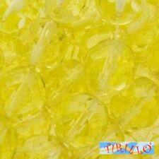 BIGIOTTERIA PERLINE - 20 mezzi cristalli 6 mm -  Jonquil