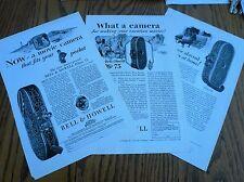 Bell & Howell Film Movie Camera print ads (3)
