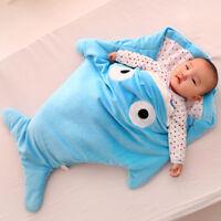 Shark Baby Winter Sleeping Bag Newborn Warm Blanket Swaddle Sack 0-12 Months