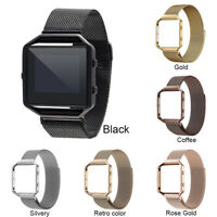For Fitbit_Blaze Tracker Stainless Steel Metal Strap Watch Band Frame Wristbands