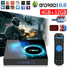 T95 Android 10.0 TV Box 4GB+16/32/64GB Quad Core HD 6K HDMI WIFI Media Player UK