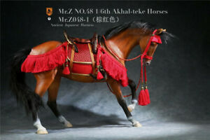 Mr.Z 1/6 MRZ048-1 Akhal-Teke Horses Animal Model With Harness Fit 12'' Figure