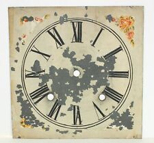 """New listing Antique Painted Metal Clock Dial- 8-7/16"""" Square- Mc25"""