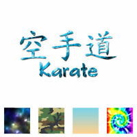 Karate Chinese Symbols - Decal Sticker - Multiple Patterns & Size - ebn2645