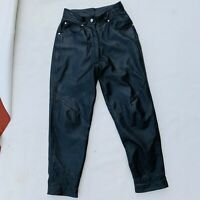Wilson''s Leather womens leather pants vintage size 6 black tapered leg