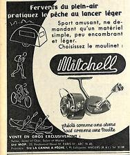 MOULINET MITCHELL PECHE AU LANCER LEGER PUBLICITE ADVERTISING 1955