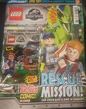 Lego Jurassic World Owen Lookout Tower Figure Foilbag MAGAZINE Comic Issue 2