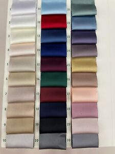 24 Colours High Quality Acetate Heavy Bridal Satin Fabric Bridal Dress Material