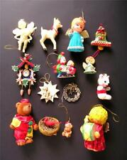 Lot of 14 Vintage Christmas Ornaments Decorations 1.5