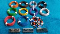 Kabel-Litze,für alle Modellbahnen, 10 Farben einzeln zum Auwählen, Neuware
