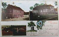 AK Gruss aus Geusa bei Merseburg Geiselthal Gasthaus Schloß 1912