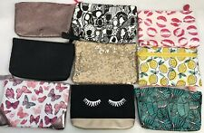Lot of 9 Ipsy Glam Bag ONLY Cosmetic Toiletries Makeup Bags