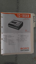 Sony tc-180av service manual original repair book schematic 36 pages 1972