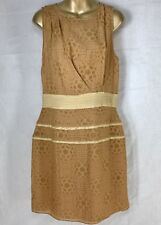 W118 by WALTER BAKER Maria Dress Sleeveless Camel Casual Lined Size Large NWT