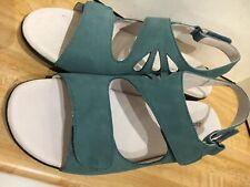 David Tate Womens Size 9M Lilly Denim Blue Nubuck Slingback Leather Sandals NICE