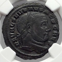 SEVERUS II 306AD Authentic Ancient Roman Coin CARTHAGE NGC Certified XF i59848