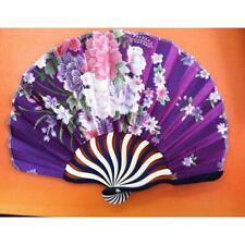 1pc New Flower Printing Vintage Bamboo Fabric Folding Hand Fan Gift Dress Decor