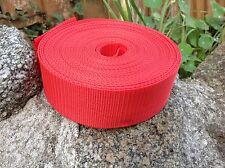 Rojo 50mm 2 Pulgadas las correas nylon X 10 metros