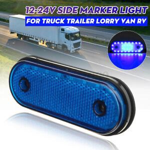 12-24V 30LED Blue Oval Clearance Side Marker Light Position Lamp Trailer Truck