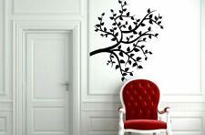 Wall Vinyl Sticker Decals Art Decor Tree Branch Leaves Silhouette Tattoo  #1311