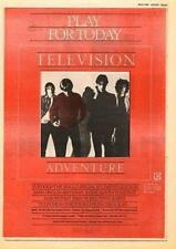 Television Tom Verlaine Foxhole UK Tour advert 1978