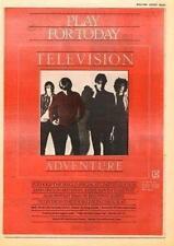 Television Tom Verlaine Foxhole UK Tour advert 1978