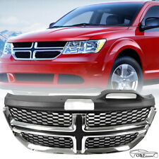 For Dodge Journey 2011 2018 Front Upper Grill Black and Chrome RT Style Grille