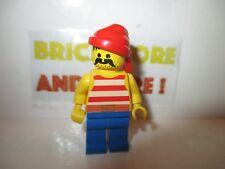 Lego - Minifigures - Pirates - Pirate Red / White Stripes Shirt pi043