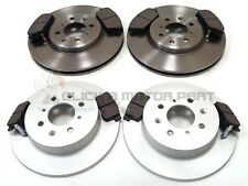 ROVER MG ZR 160 + MG ZS 180 2001-2005 FRONT AND REAR BRAKE DISCS & PADS SET NEW