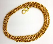 22K SOLID GOLD FLEXIBLE 3.0 MM ROPE CHAIN NECKLACE FROM INDIA 22'' CHAIN