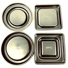 Mrs. Fields Bakeware Fill & Flip Pans Round and Square