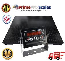 """Pallet Scale 5 Year Warranty 5x5 Heavy Duty 60"""" x 60"""" Floor Scale 5,000 lb NTEP"""