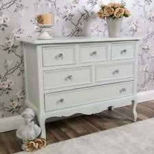 Large Chest Of Drawers Grey Ornate Shabby Vintage Chic Furniture Storage Home