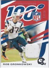 Rob Gronkowski Patriots 2019 Panini Chronicles NFL 100 Jersey Relic Card /99