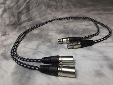 Maze Audio Eden Series XLR Interconnects Patch Cables 3ft Pair Black