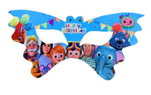 COCOMELON Family Friends birthday party cardstock/paper MASKS favors 10 pcs