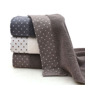 1 pc Soft  Cotton Bath Towel Set Plush Towels Hand Wash Cloth Bathroom,